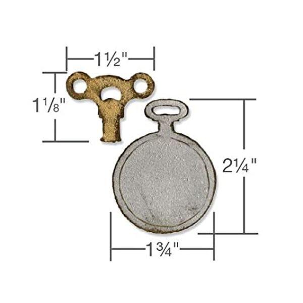 Tim Holtz Alterations Movers & Shapers Mini Clock Key & Pocket Watch