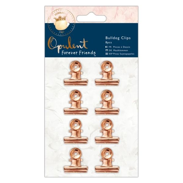 Forever Friends Opulent Bulldog Clips Copper