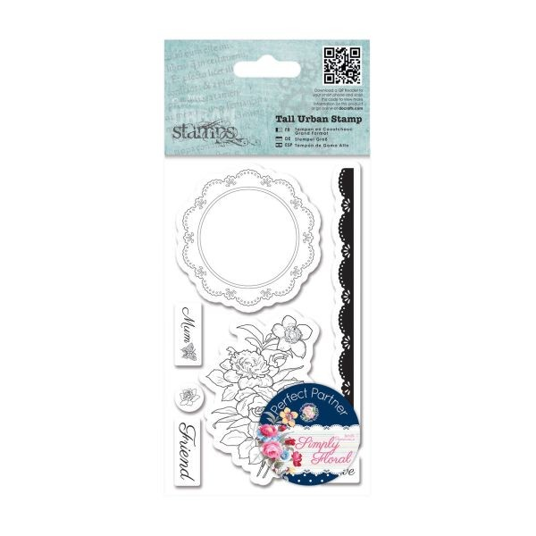 Papermania Simply Floral Tall Urban Stamp Flower Doily