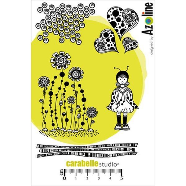 Carabelle Studio Tampon Art Stamp A6 Zinouk des Coeurs by Azoline