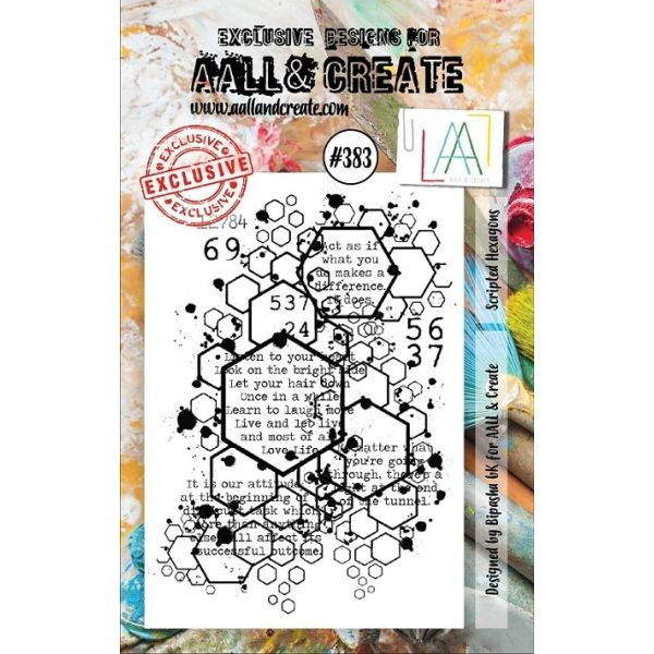 AALL & Create Clearstamps A7 No. 383 Scripted Hexagons