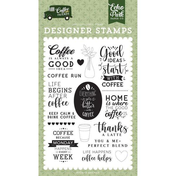 Echo Park Coffee & Friends Designer Stamps