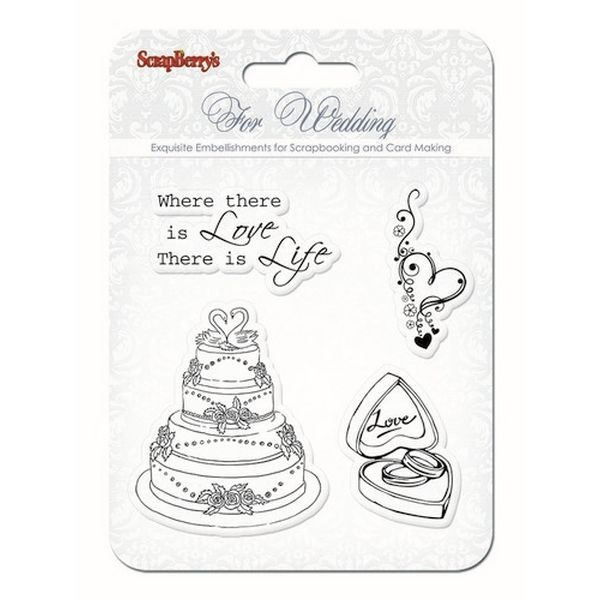 ScrapBerry´s Clearstamps For Wedding - Wedding