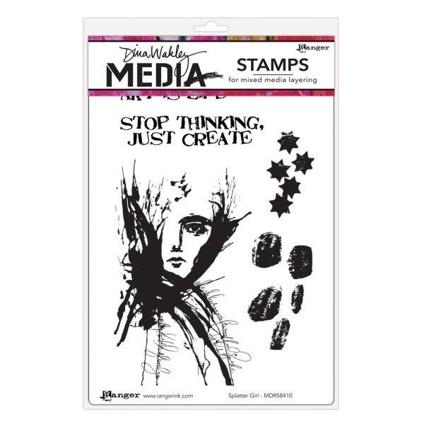 Dina Wakley Media Clingstamps Splatter Girl