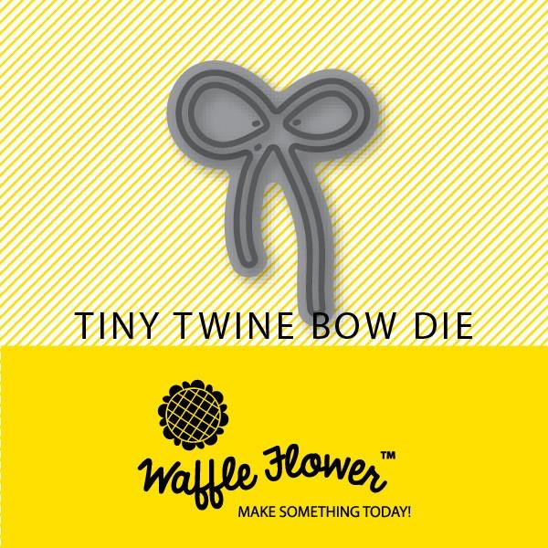 Waffle Flower Tiny Die Twine Bow