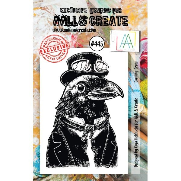 AALL & Create Clearstamps A7 No. 445 Dashing Crow