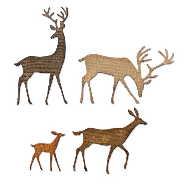 Tim Holtz Alterations Thinlits Darling Deer