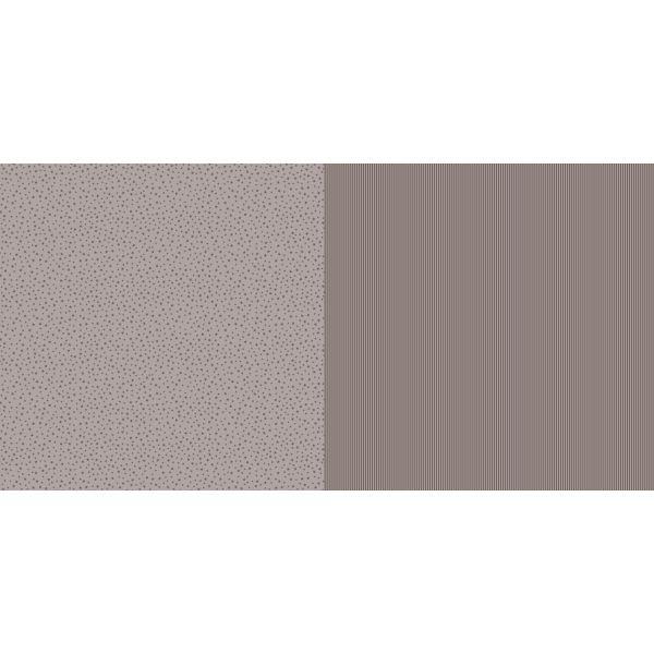 Dini Design Scrapbook-Papier Sterne & Streifen Mokkabraun