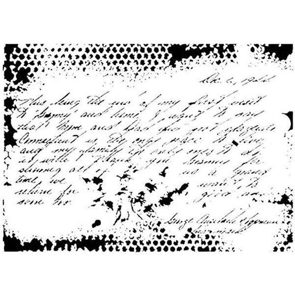 Dress my Craft Stencil A4 Vintage Script