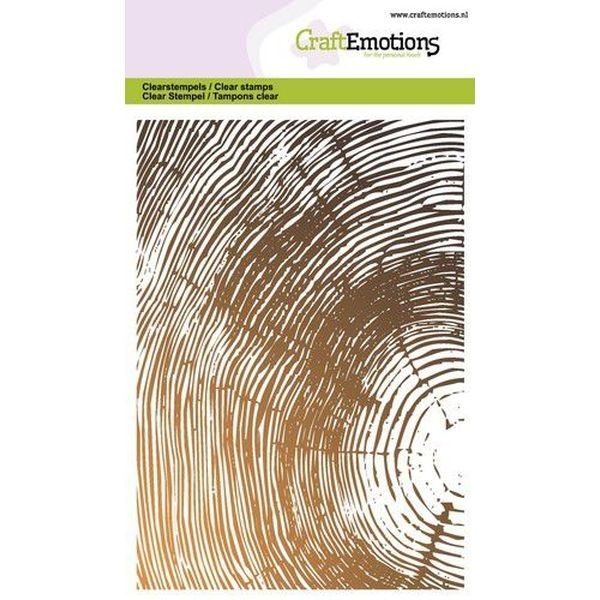 Craft Emotions Clearstamps Tree Growth Rings