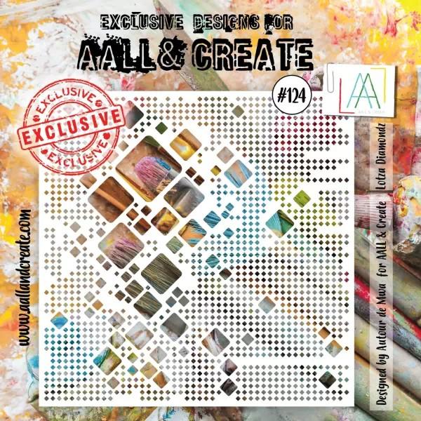 AALL & Create Stencil 6x6 No. 124 Lotza Diamondz