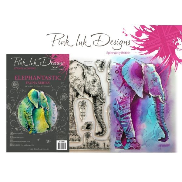 Pink Ink Designs Clearstamp Set Elephantastic