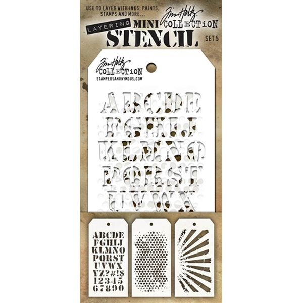Tim Holtz Mini Stencil Set 005