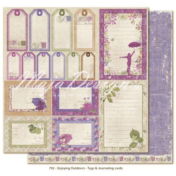 Maja Design Enjoying Outdoors Tags & Journaling Cards