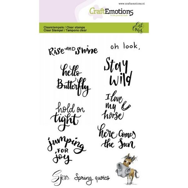 Craft Emotions Clearstamps Handlettering Sjors Spring Quotes