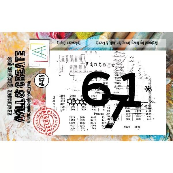 AALL & Create Clearstamps A7 No. 438 Ephemera Digits