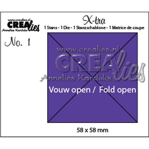 CreaLies X-tra No. 01 Fold Open Square