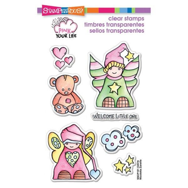 Stampendous Pink Your Life Clearstamps Little Angels