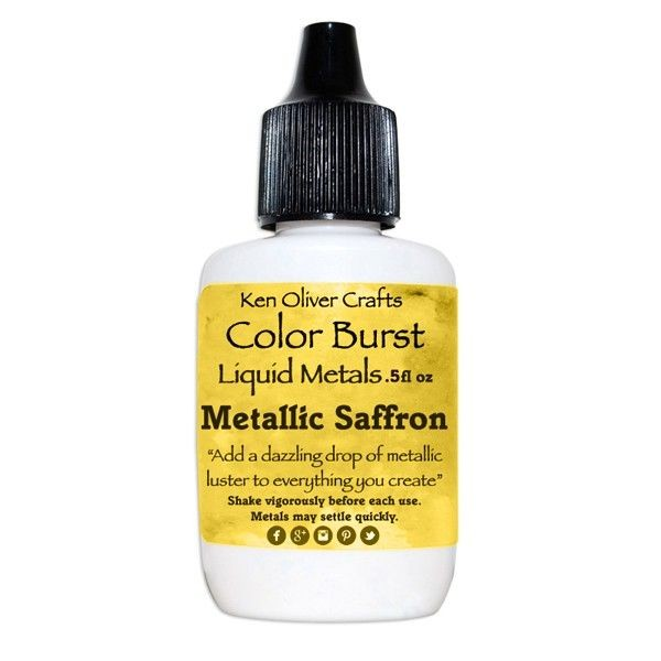 Ken Oliver Crafts Color Burst Liquid Metals Metallic Saffron