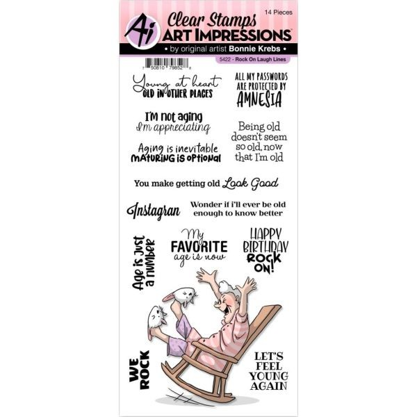 Art Impressions Clearstamps Laugh Lines - Rock On