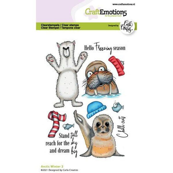 Craft Emotions Clearstamps A6 Arctic Winter No. 2