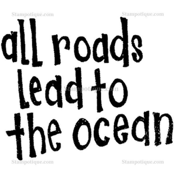 Stampotique Originals Ocean Text