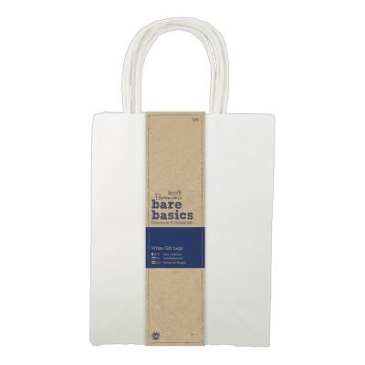 Papermania Bare Basics Gift Bags White Large