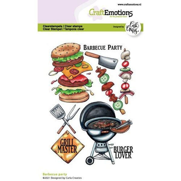 Craft Emotions Clearstamps Barbecue Party