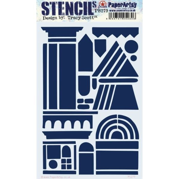 Paper Artsy Stencil Large 279 by Tracy Scott
