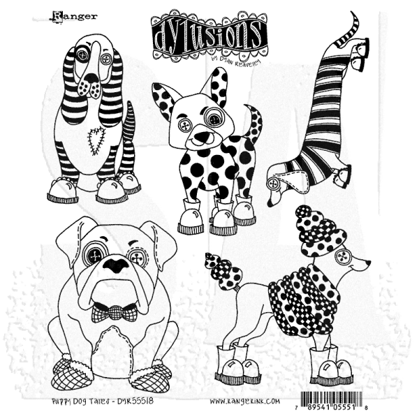 Dylusions Clingstamps Puppy Dog Tales