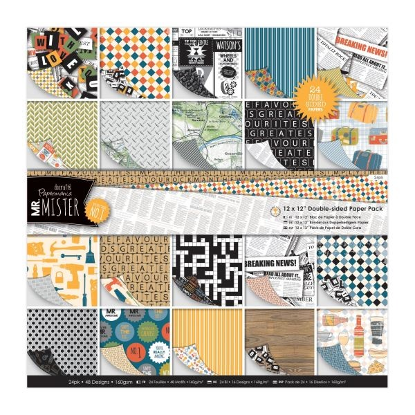 Papermania Mr. Mister Doublesided Paperpack 12x12