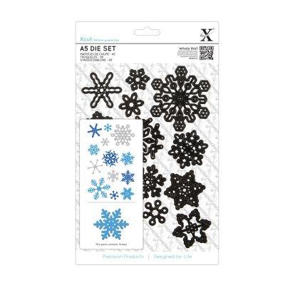 XCut A5 Die-Set Snowflakes
