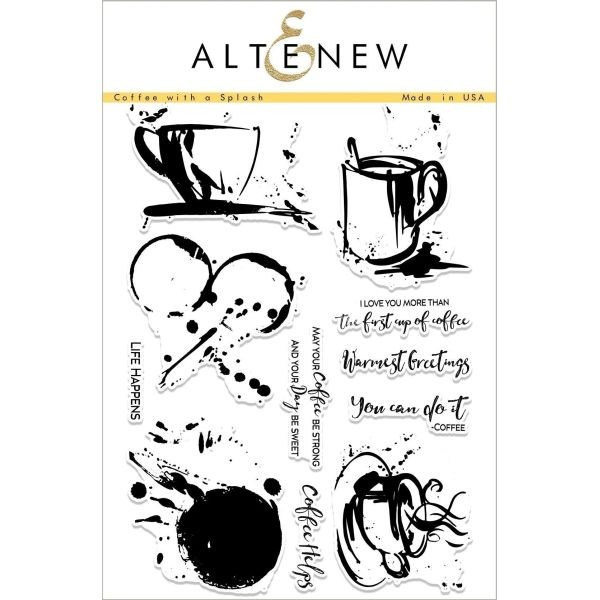 Altenew Clearstamps 6x8 Coffee with a Splash