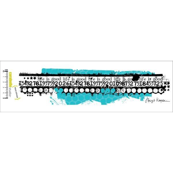 Carabelle Studio Tampon Art Stamp Edge Life is Good by Birgit Koopsen