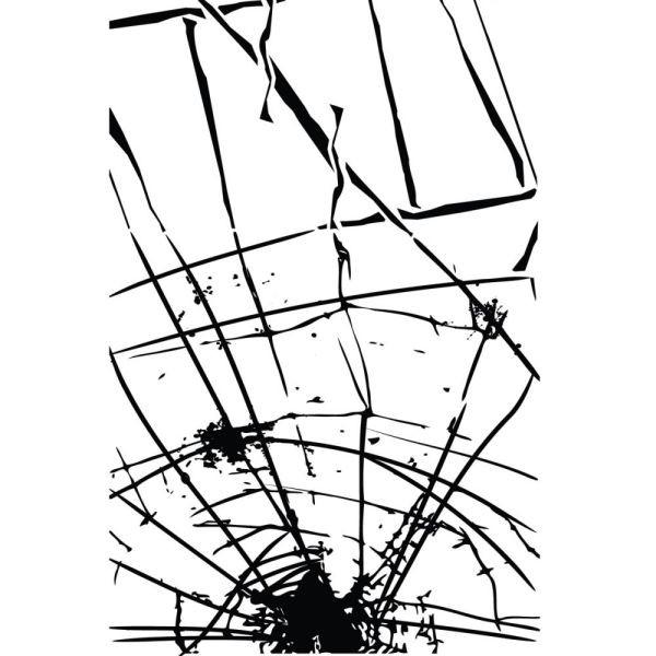 Prima Marketing Clingstamp Broken Glass