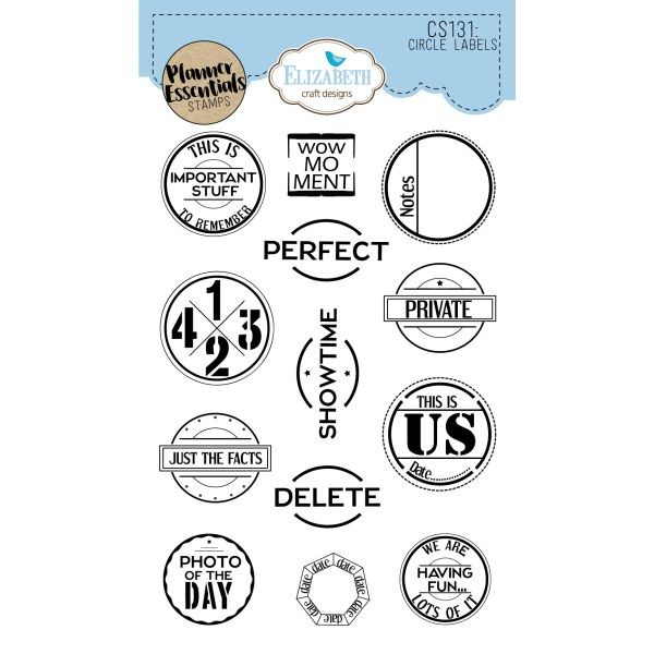 Elisabeth Craft Designs Clearstamps Circle Labels
