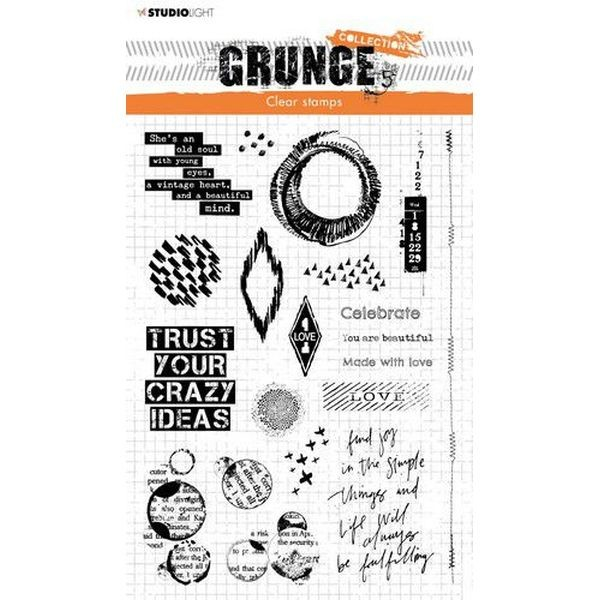 Studio Light Clearstamps Grunge Collection No. 43
