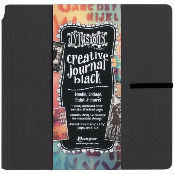 Dylusions Creative Journal Square Black