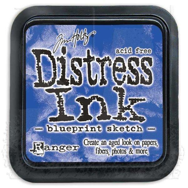 Distress Ink Mini Pad Blueprint Sketch
