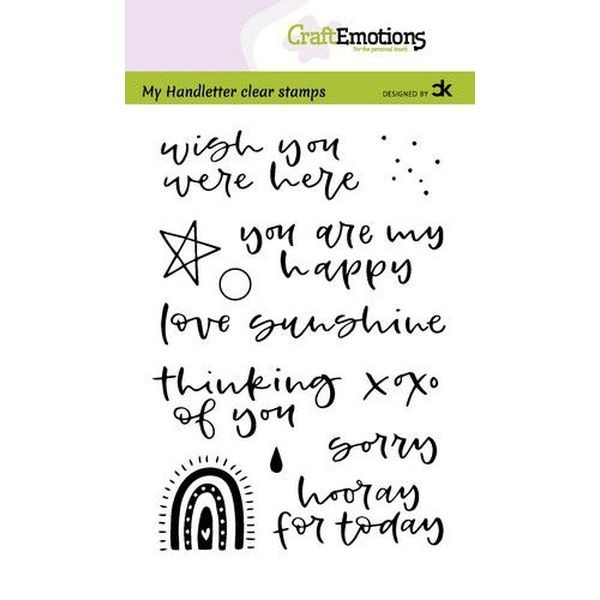 Craft Emotions Clearstamps Handlettering Rainbow II