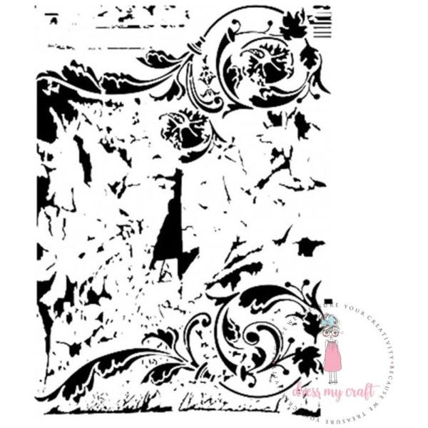 Dress my Craft Stencil A4 Swirls