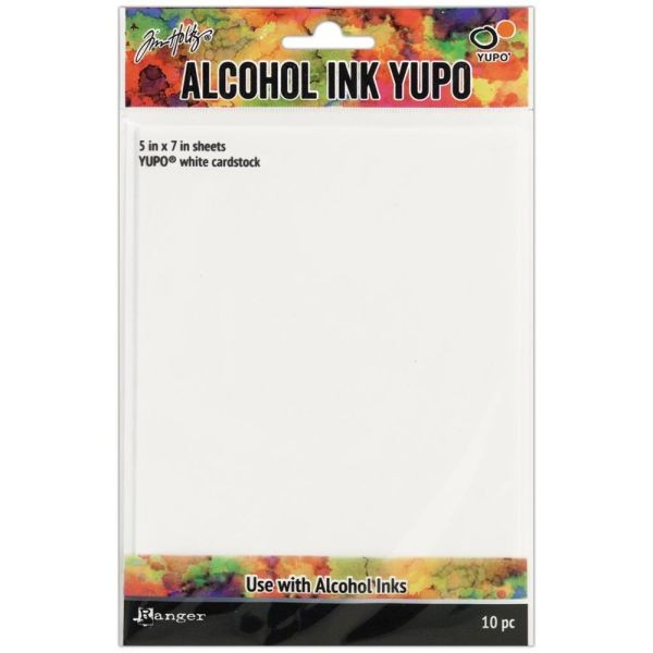 Tim Holtz Alcohol Ink Yupo Cardstock White 5x7