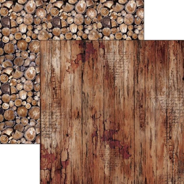 Woodland Paper Cardstock 12x12 Old Time Wood