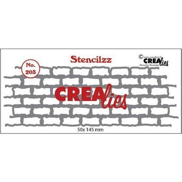 CreaLies Stencilzz No. 203 Stones