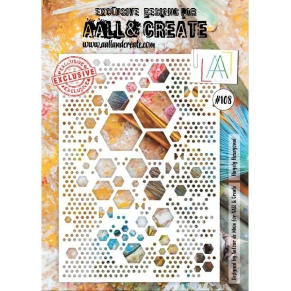 AALL & Create Stencil A4 No. 108 Hugely Hexagonal