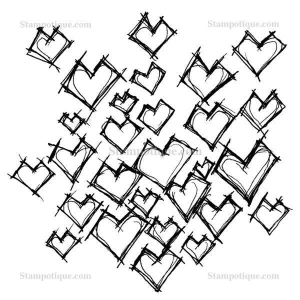 Stampotique Originals Daniel´s Hearts