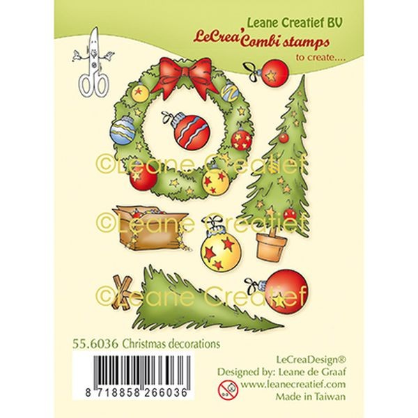LeaCreadesign Combi-Clearstamps Xmas Decorations