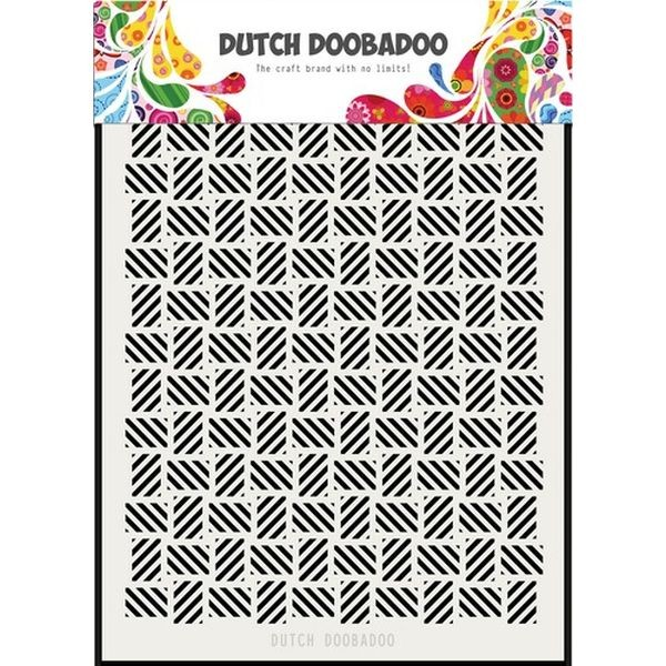 Dutch Doobadoo Mask Stencil A5 Stripe Pattern Los
