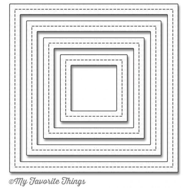 MFT Die-Namics Single Stitch Line Square Frames