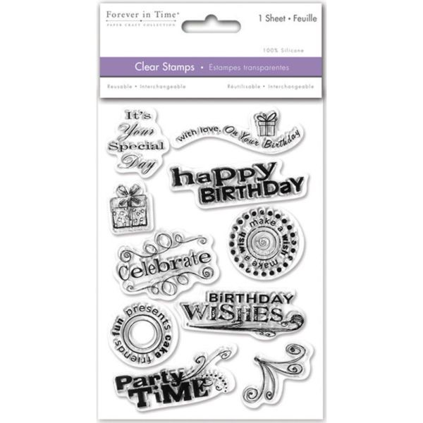 Forever in Time Clearstamps Birthday Wishes